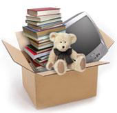 коробка с книгами