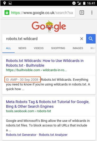 AMP-страницы в поиске Google