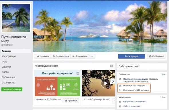 Сообщества в Facebook