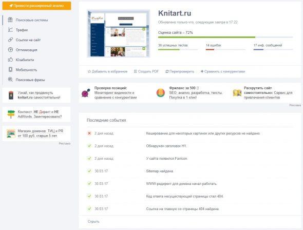 Сервис экспресс-аудита сайта