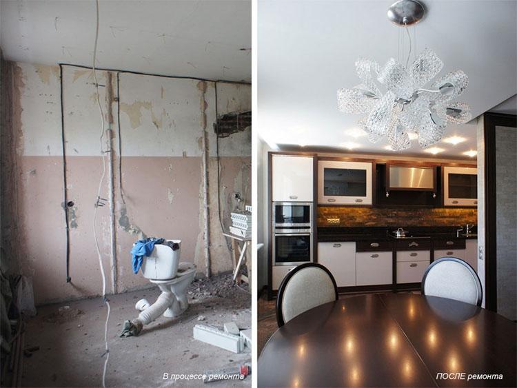 Пример ремонта до и после