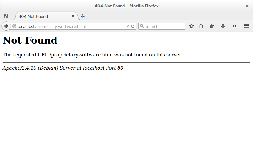 Стандартный шаблон страницы 404