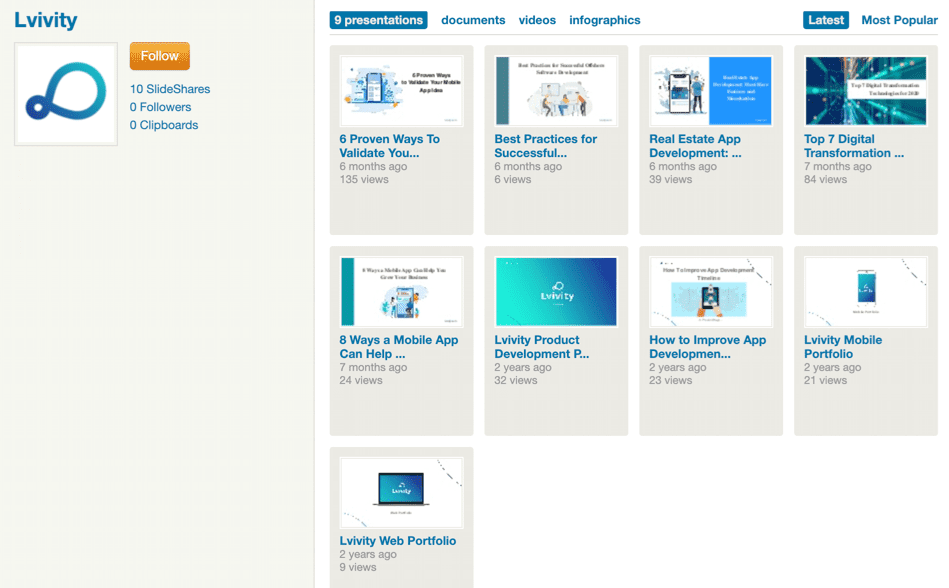 Профиль компании на Slideshare.net