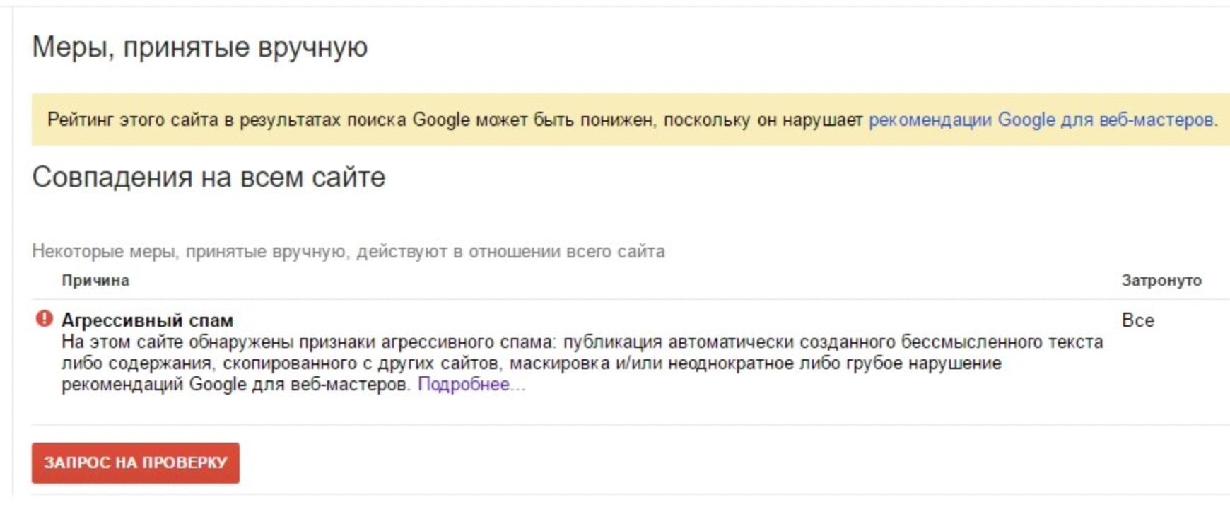 Фильтр за переоптимизацию в Google